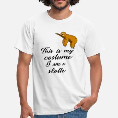 Geburtstagsspruch This is my costume, I am a sloth Faultier Fasching - Männer T-Shirt