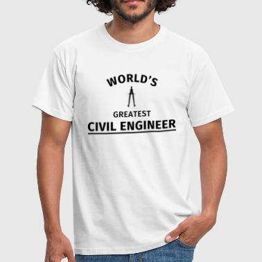 Civil Engineering World's greatest civil engineer - Men's T-Shirt