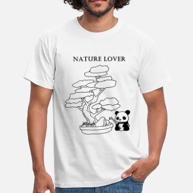 Japanese Bear Nature Lover Japanese style panda bear - Men's T-Shirt