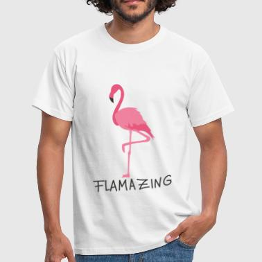 Flamingo flamingo - T-skjorte for menn