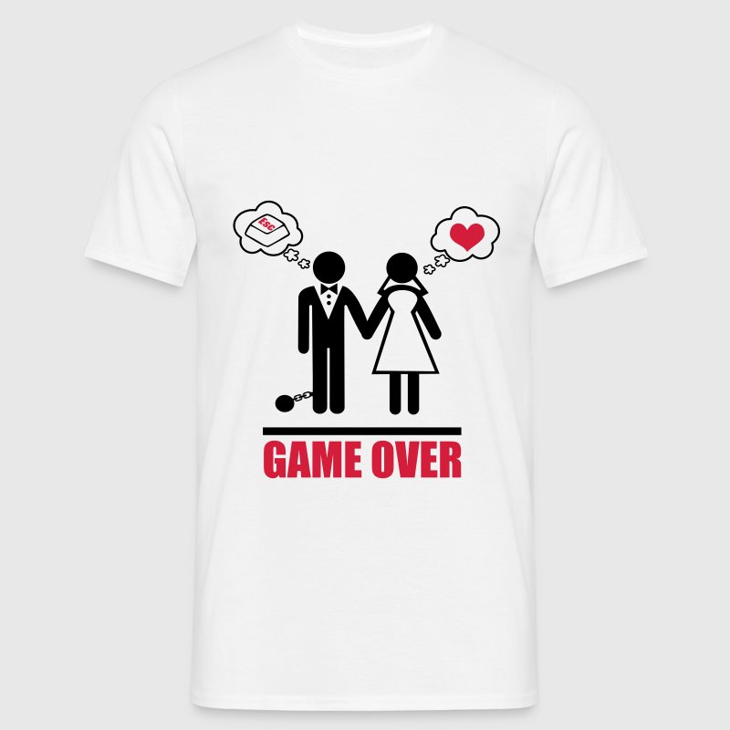 Game over stag do hen party night bachelor - Men's T-Shirt