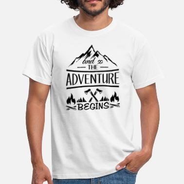 Greatest And so the Adventure begings - camping scout gift  - Mannen T-shirt