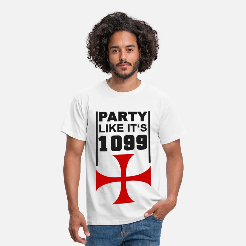 Crusade T-Shirts - Party like its 1099 4 - Men's T-Shirt white