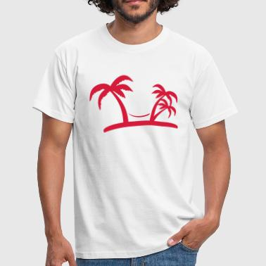 Palmen Comic palm - Männer T-Shirt