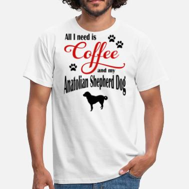 Anatolia Anatolia Shepherd Dog Coffee - T-skjorte for menn