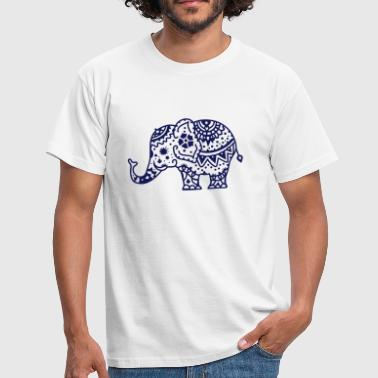 Tribal Designs a decorated Indian elephant - Men's T-Shirt