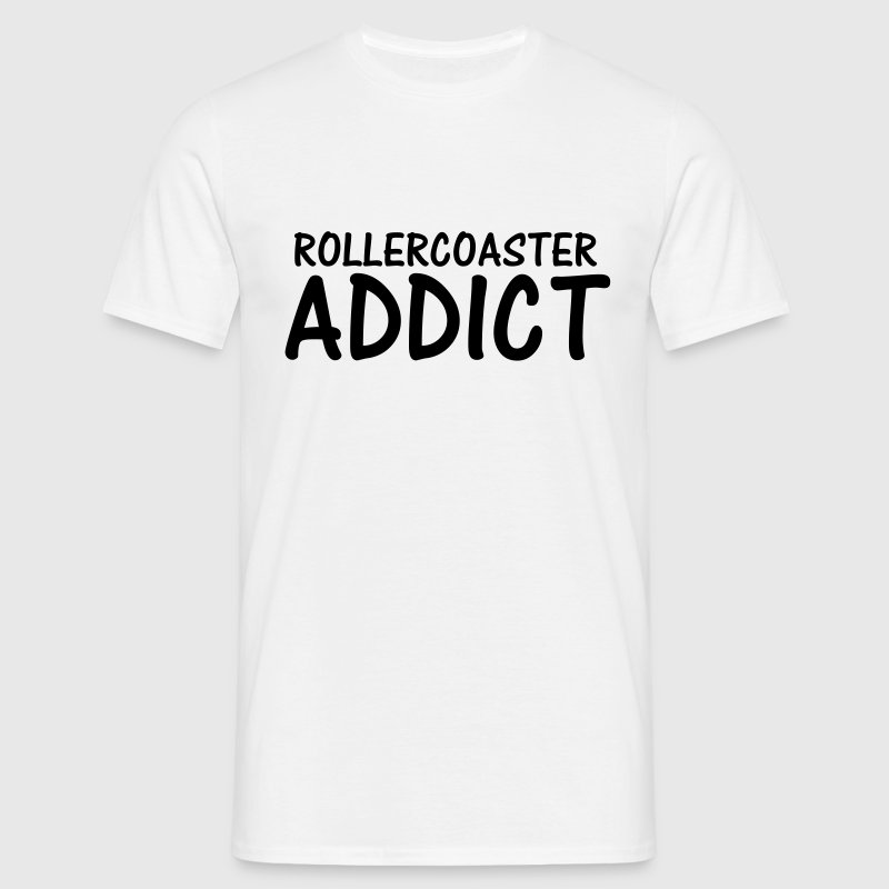 rollercoaster addict - Men's T-Shirt