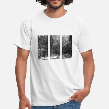 White Palm Bamboo and palms black and white - Men's T-Shirt
