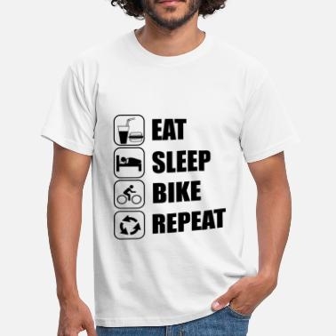 Eat Sleep Bike Repeat eat sleep bike repeat - Men's T-Shirt