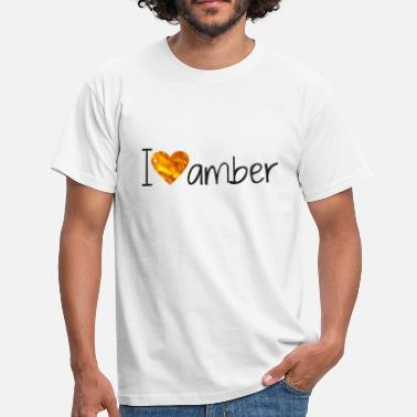 Amber amber love - Men's T-Shirt