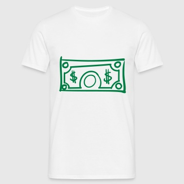 Dollar bill US dollar geld Bankbiljet dollarbiljet - Mannen T-shirt
