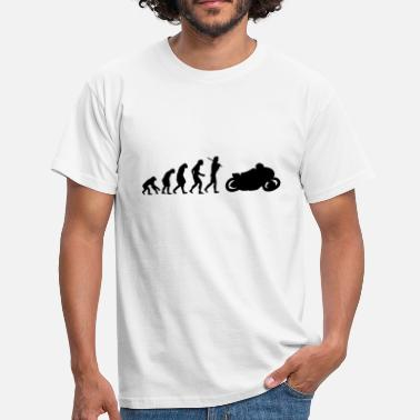 Motorbike Evolution Motorcycle Bike Gift Shirt Enduro Motorcyclist - Men's T-Shirt
