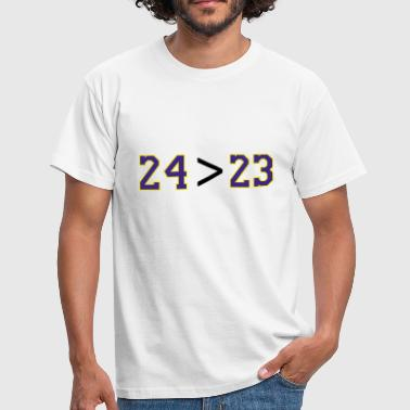 24 greater than 23 or Kobe greater than Lebron - Men's T-Shirt