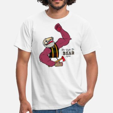 Arm Bears The Right to Bear Arms - Men's T-Shirt