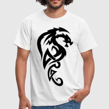 tribal dragon - Männer T-Shirt
