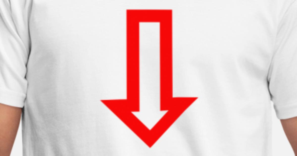 Punainen nuoli Miesten t-paita  b01c95c609