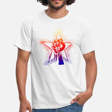 Graffiti Power Puño de graffiti de colores Power Streetart Streetwear - Camiseta hombre