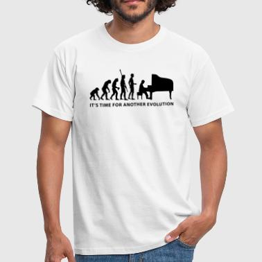 evolution_pianist_b - Männer T-Shirt