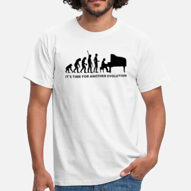 Klavier evolution_pianist_b - Männer T-Shirt