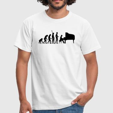 evolution_pianist - Männer T-Shirt