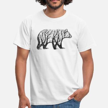 Tree Bear bear made from trees! - Men's T-Shirt