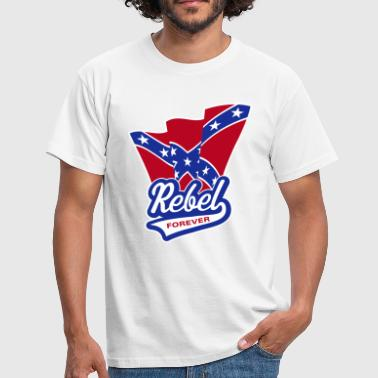 Rebel Forever Flag - Männer T-Shirt