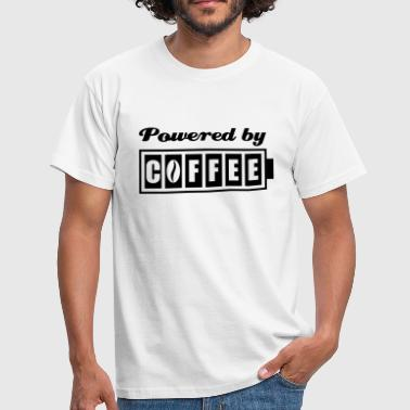 Coffee Powered Powered by Coffee - Men's T-Shirt
