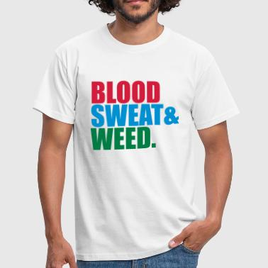 weed hemp joint drugs smoking blood sweat sting - Men's T-Shirt