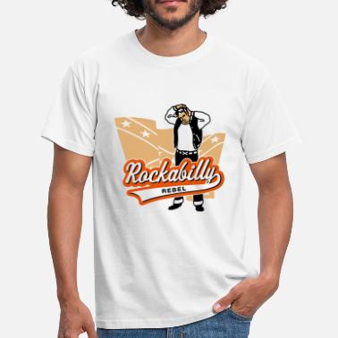 Confederate Rockabilly Rockabilly Rebel - Men's T-Shirt