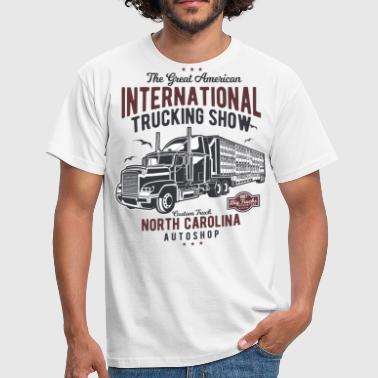 Big Trucks Truck Driver Highway Gift Big Truck - Men's T-Shirt