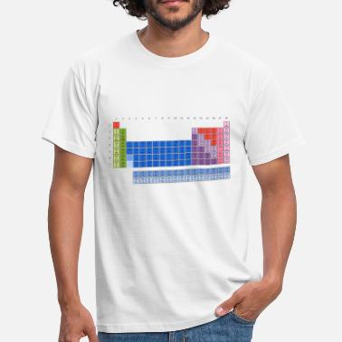 Periodensystem Chemie Elemente Periodensystem der Elemente (PSE) Periodic Table of the Elements - Männer T-Shirt