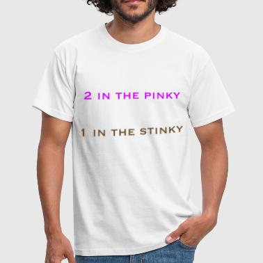 Ü50 Sex 2 in the pinky 1 in the stinky - Männer T-Shirt
