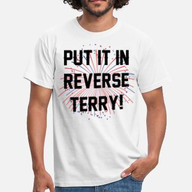 Terry Put it in reverse terry - Men's T-Shirt