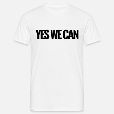 Yes We Can Yes We Can schwarz - Männer T-Shirt