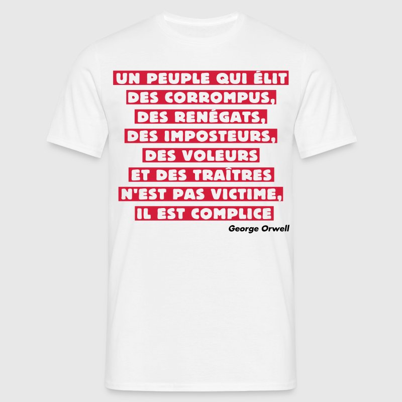 George Orwell - T-shirt Homme