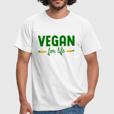 vegan for life - Männer T-Shirt