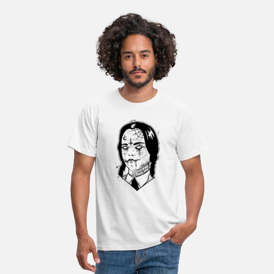Collection T-shirts - mercredi Addams - T-shirt Homme blanc