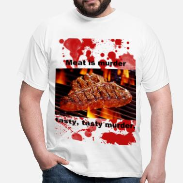 Meat Meat is Murder - Men's T-Shirt