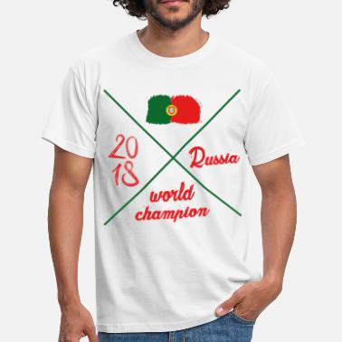 World-cup-2018 Portugal Tshirt World Cup 2018 banner fan - Men's T-Shirt
