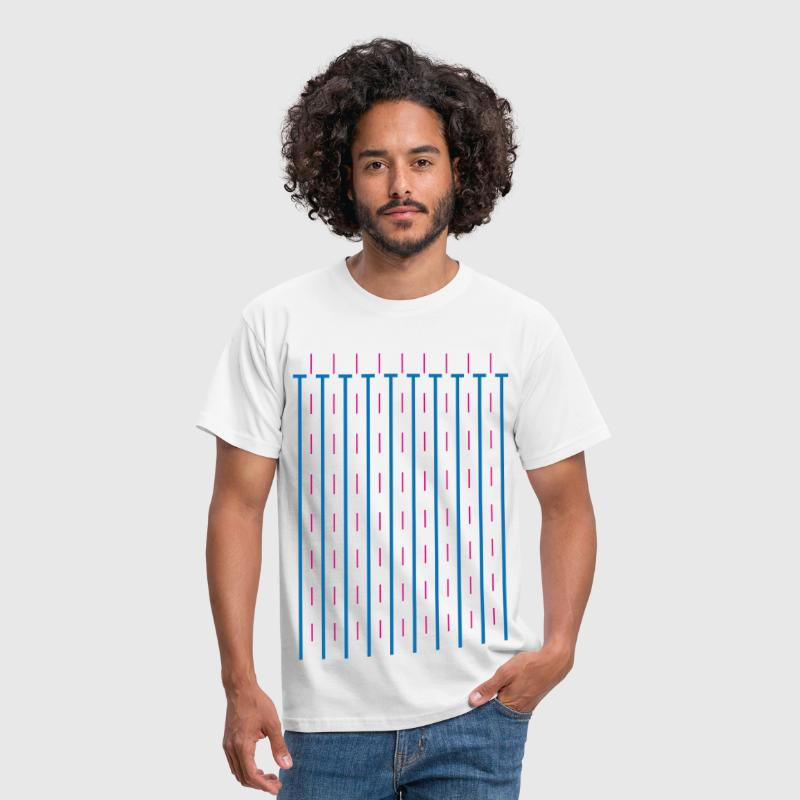 Schwimmbecken Wassersport Swimmingpool Pop-Art Fun - Männer T-Shirt