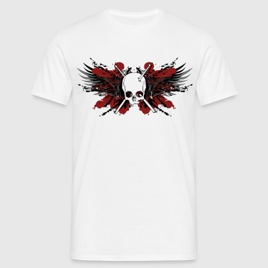 Skull Gothic Drumsticks Rock Metal Gothic Biker - Men's T-Shirt