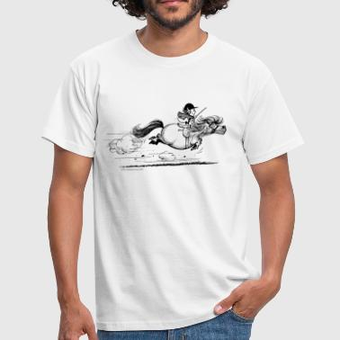 Pony rent Thelwell Cartoon - Mannen T-shirt