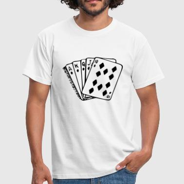Poker main carte quinte flush royale - T-shirt Homme