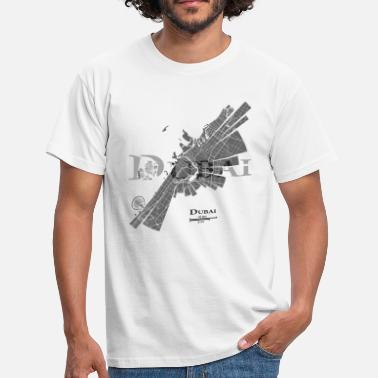 Dubai Dubai Map - Men's T-Shirt