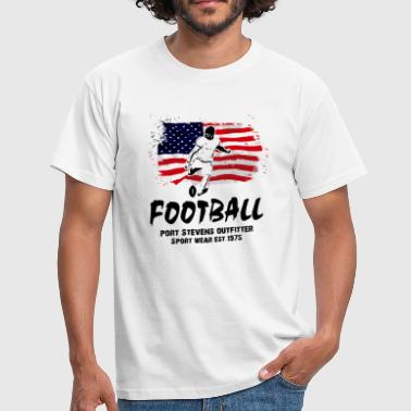 American Football - USA Flag - Männer T-Shirt