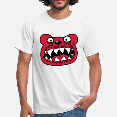 Monster Hoved hoved ansigt onde monster farlige horror hall - Herre-T-shirt