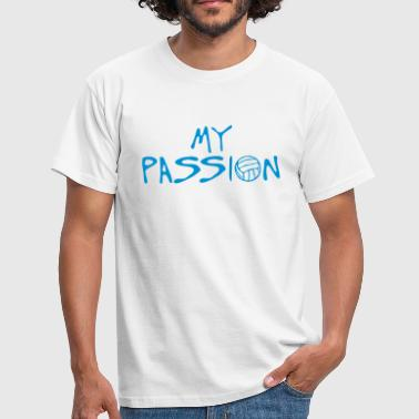Volleyball Quotes volleyball waterpolo my passion quote - Men's T-Shirt