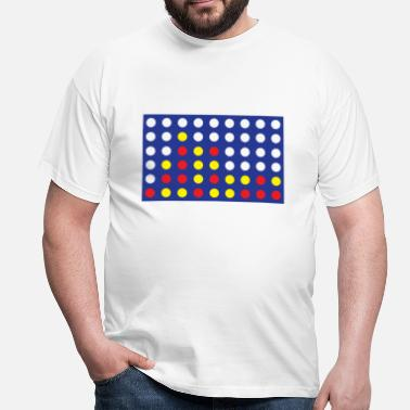 Connect 4 4 in a row men's T-shirt - Men's T-Shirt
