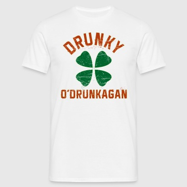 Drunky O'Drunkagan Irish Grunge - Men's T-Shirt