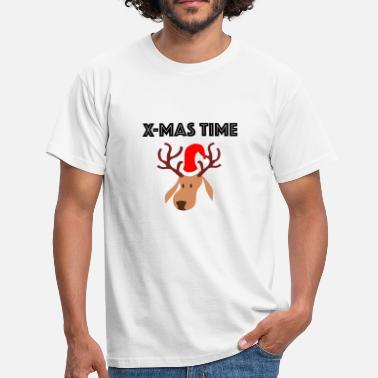 Reindeer X-Mas Time with Reindeer - Männer T-Shirt
